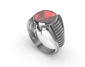 3D print model 060 - Round Diamond Gents Ring