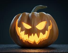 Halloween Pumpkin - Jack-o-lantern 3D evil