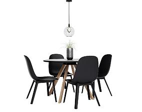 3D Dining Furnitures Set 48