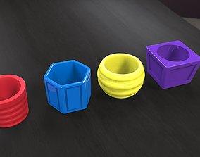flower-pots pack2 3D print model