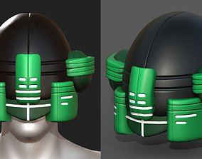 Helmet scifi military futuristic technology 3D model 1