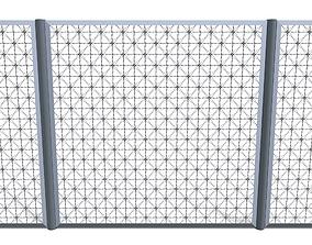 Low Poly Modular Fence 14 3D asset