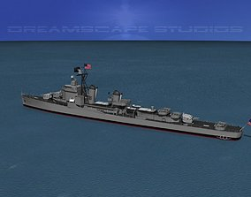 3D model Gearing Class Destroyer DDR-808 USS Dennis J