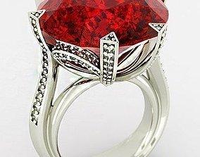 3D print model large stone ring 056