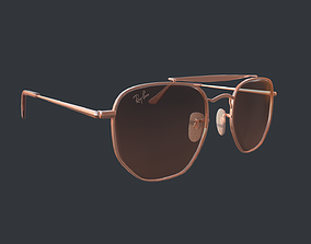3D asset Ray Ban Marshal 2 Bronze Copper Pink Brown