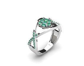 3D print model diamond Perfect Ring
