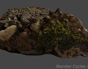 3D model landscape Mossy Stone