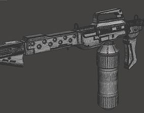M240 Flamethrower With Custom Wall 3D printable model 3