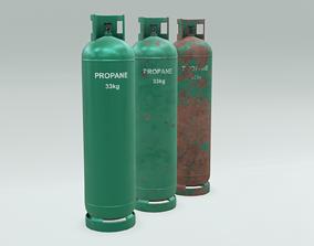 3D model 4K Low-Poly PBR Propane Gas Cylinder 33 kg - 3 1