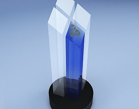 3D model game-ready Trophy award cup low poly