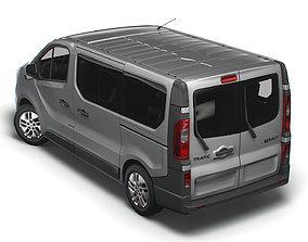 3D Renault Trafic Minibus 2021