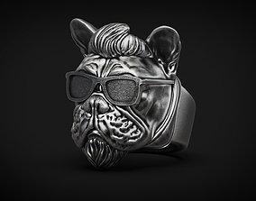 French bulldog Dog Ring Rock star STL 3d model for 3d 1