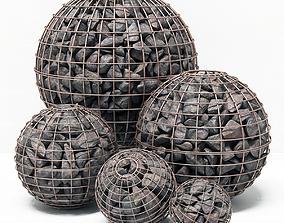 Gabion sphere form 3D model
