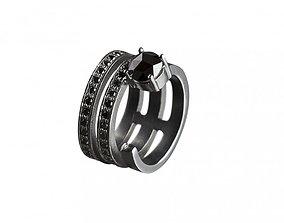 Hoops Ring 3 Hoops Open Ring 3D print model