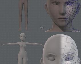 Base ManV04 and Base WomanV11 3D model
