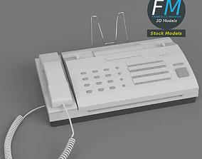 Office fax machine base mesh 3D model