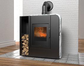 3D model Aruba wood stove