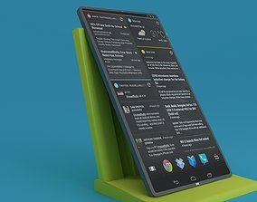 3D model Custom Brand TouchScreen Phone