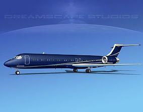 McDonnell Douglas MD-87 Corporate 3 3D