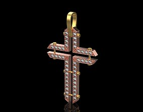 Cross with sharp corners 3D printable model pendants