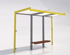 3D MMCite Geomere 300 Bus Shelter