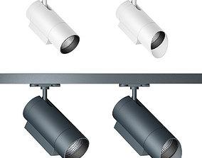 Zumtobel track spotlight system 3D model