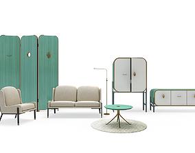 Yabu Pushelberg Furniture 3D kitchen