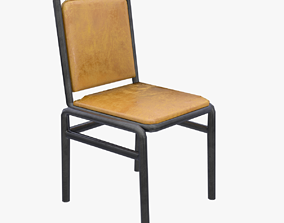 Dining Chair 3D asset game-ready PBR