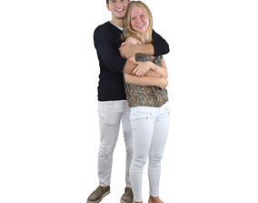 3D model No355 - Young Couple
