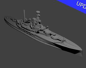 British Revenge Class Battleship 3D print model