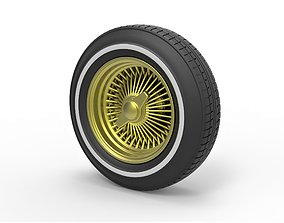 Diecast wire wheel from lowrider 3D printable model 4