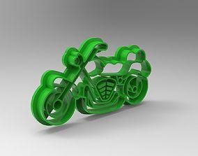 printable motorcycle cookie cutter 3D print model