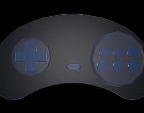 Low poly joystick 9 3D asset