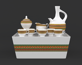 3D model party Coffee Cup Set
