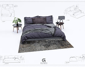 REVIT Bedding Set and Carpet and Nightstand 3D Models