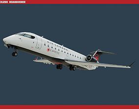 3D model game-ready CRJ200 Air Canada