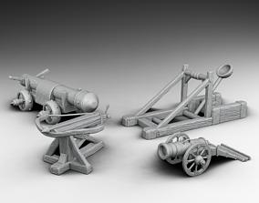 3D print model siege weapons