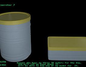 Plastic canister 7 3D model