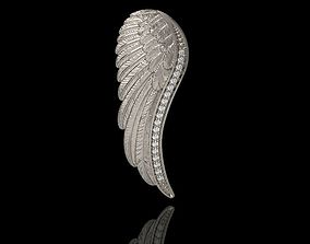3D print model Angel Wing Pendant with Diamonds