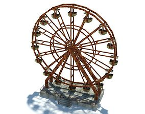 3D asset realtime Abandoned Ferris Wheel