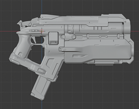 games-toys 3D printable model Doom Eternal Cosplay Pistol