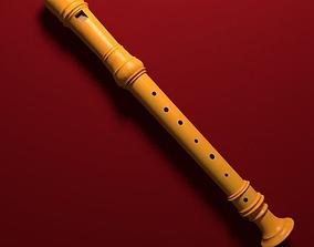 Recorder - Flute 3D model
