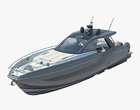 Azimut verve 47 High Speed Sea Yacht 3D model