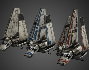 3D model animated realtime Imperial Shuttle