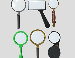 Magnifying Glass Pack 3D model