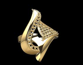 Gold Ring 175 3D print model rhino