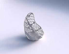 3D print model Vase Tide with diagonal grid lattice 3