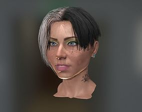 3D model rigged Realistic face