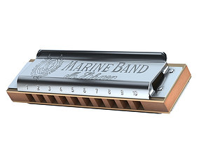 Harmonica Hohner Marine Band 1896 Classic 3D