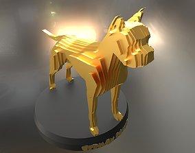 3D asset Parametric German Boxer Dog